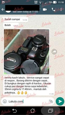 testimoni kepuasan pelanggan lakulo.com