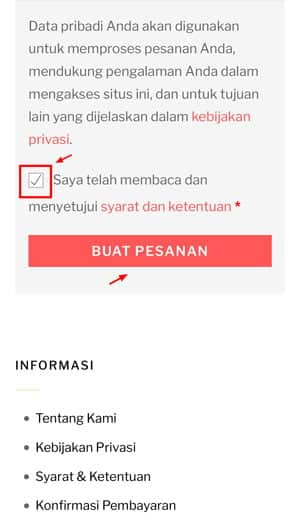 tombol buat pesanan lakulo.com