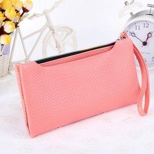 dompet clutch wanita import warna pink