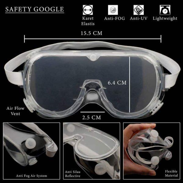 kacamata safety anti fox elastis
