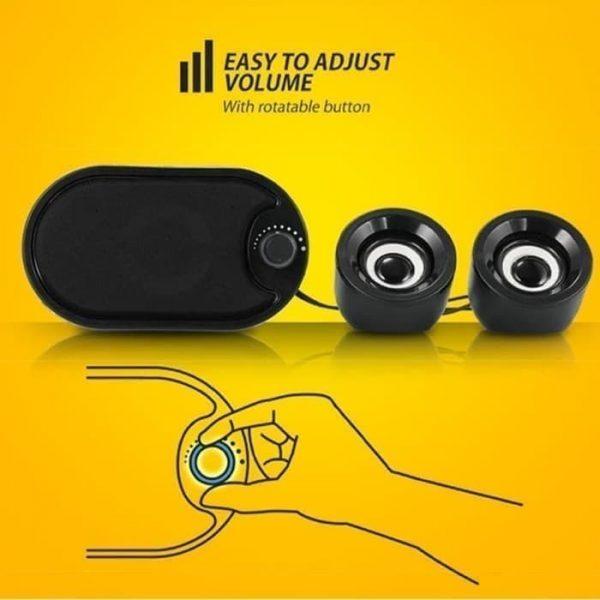 stereo speaker 2.1 robot rs170