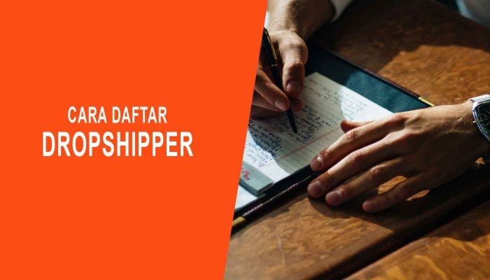 Cara Daftar Dropshipper
