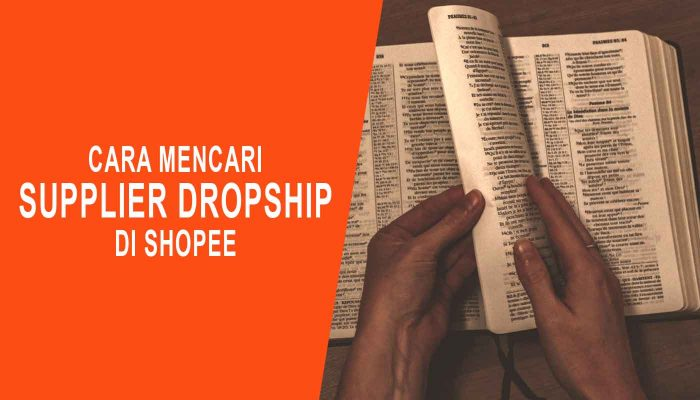 Cara Mencari Supplier Dropship Di Shopee